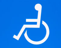 Wheelchair handicap sign Stock Photography