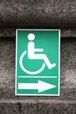 Wheelchair Handicap Sign inside The temple  Wat Sothorn Wararam Thailand. Wat Thailand Stock Image