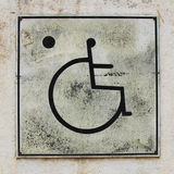 Wheelchair Handicap Toilet Sign. Background Stock Photography
