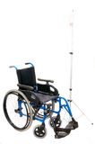 Wheelchair for handicaped on white Royalty Free Stock Photo