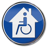Wheelchair and handicapped accessible house stock illustration