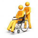 Wheelchair - Helping hand Royalty Free Stock Photo