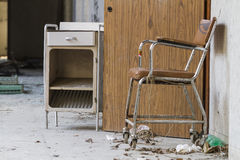 Wheelchair in the hospital abandoned Royalty Free Stock Photos