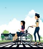 Wheelchair royalty free illustration