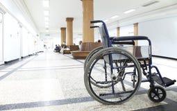 Wheelchair hospital corridor Royalty Free Stock Photo