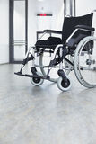 Wheelchair hospital entrance Stock Images