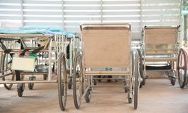 Wheelchair in hospital. Group of Wheelchair stanby in hospital Royalty Free Stock Images