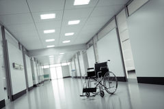 Wheelchair in a hospital Royalty Free Stock Photos