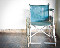 Wheelchair in hospital Royalty Free Stock Photo