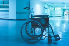 Wheelchair Hospital. Scary and lonely royalty free stock images