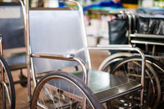 Wheelchair in hospital. Stock Photography