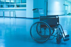 Wheelchair Hospital. Scary and lonely royalty free stock photos