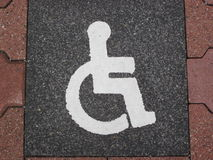 Wheelchair-Icon (Parking space) Royalty Free Stock Photos