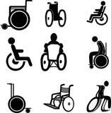 Wheelchair Icons Stock Photo