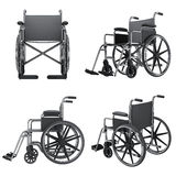 Wheelchair icons. Isolated on white background Stock Photography