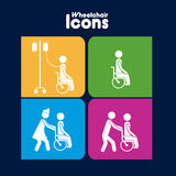 Wheelchair  icons Stock Photography