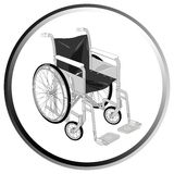 Wheelchair illustration Royalty Free Stock Photography