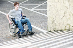 Wheelchair Inaccessable Stairs Royalty Free Stock Photos