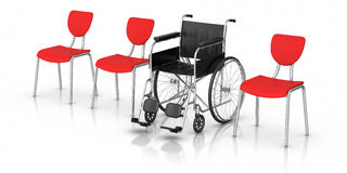 Wheelchair -  Individuality Concept. 3D rendered image : Wheelchair -  Individuality Concept Royalty Free Stock Photography