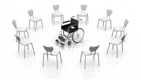 Wheelchair -  Individuality Concept Royalty Free Stock Images