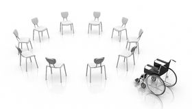 Wheelchair -  Individuality Concept Stock Photos