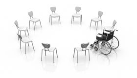 Wheelchair -  Individuality Concept Royalty Free Stock Image