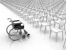 Wheelchair  -  Individuality Concept Stock Images