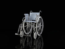 Wheelchair  isolated on black background Royalty Free Stock Photography