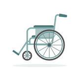 Wheelchair isolated on white background. Stock Photo