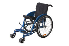 Wheelchair isolated on white background. Mechanical wheelchair isolated on white background Royalty Free Stock Images