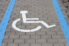 Wheelchair lane Stock Photography