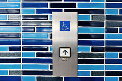 Wheelchair lift symbol Stock Images