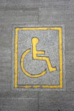 Wheelchair logo on the floor Royalty Free Stock Image