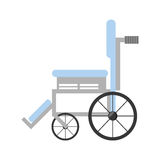 Wheelchair medical equipment icon Royalty Free Stock Photo