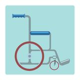 Wheelchair medical stretcher. Wheelchair medical gurney on a neutral background pictogram symbol of medicine and health royalty free illustration