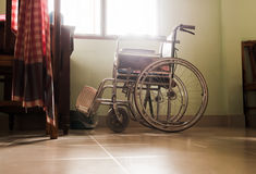 Wheelchair  at my window Stock Images