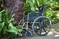 Wheelchair in nature Royalty Free Stock Photos