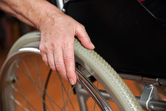 In the wheelchair Royalty Free Stock Photography
