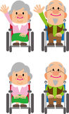 Wheelchair old man Royalty Free Stock Photography