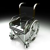 Wheelchair over white background Royalty Free Stock Photo