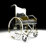 Wheelchair over white background Royalty Free Stock Image