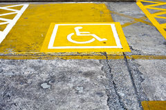 Wheelchair parking lot Royalty Free Stock Photo