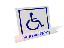 Wheelchair parking sign. Reserved parking for wheelchairs stock illustration
