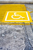 Wheelchair parking space Stock Image