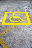 Wheelchair parking space Royalty Free Stock Photography
