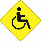 Wheelchair parking symbol sign Stock Images