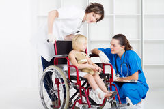 Wheelchair patient Royalty Free Stock Images