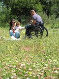Wheelchair Picnic Royalty Free Stock Image