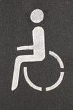 Wheelchair pictogram Royalty Free Stock Photo