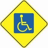 Wheelchair plate symbol sign Stock Photos
